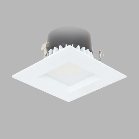 Image 1 of Alcon Lighting Escala 14009 4 Inch Square Baffle Architectural LED Recessed Can Light