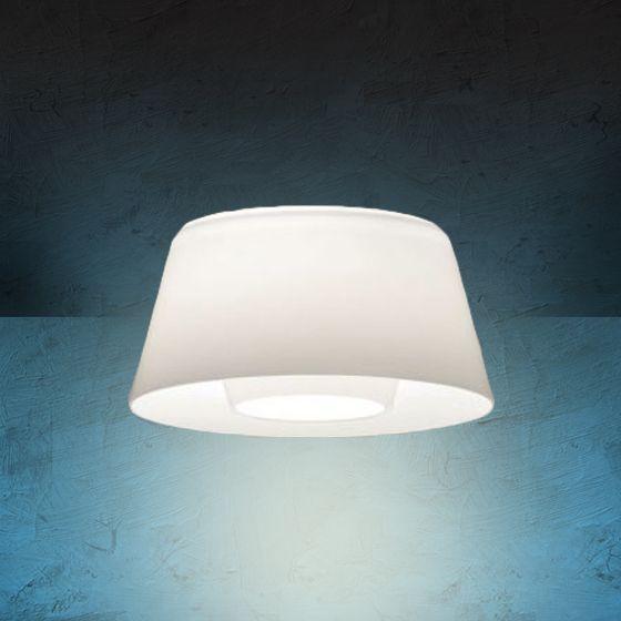Image 1 of Alcon Lighting 14021 Bunbury Series Semi-Recessed 10 Inch LED Handblown Opal Glass Downlight