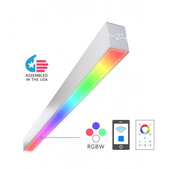 Alcon Lighting 12100-23-RGBW-W Color Changing Continuum 23 Series Architectural LED Linear Wall Mount Direct Light Fixture