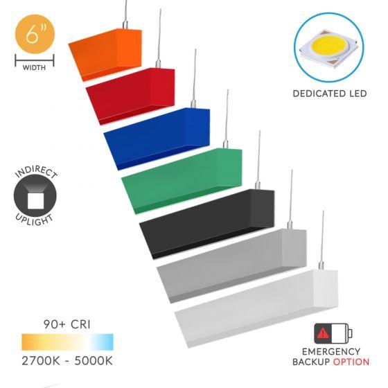 Alcon Lighting 12100-66-P-I Continuum 66 Series Architectural LED Pendant Mount Indirect Uplight Fixture