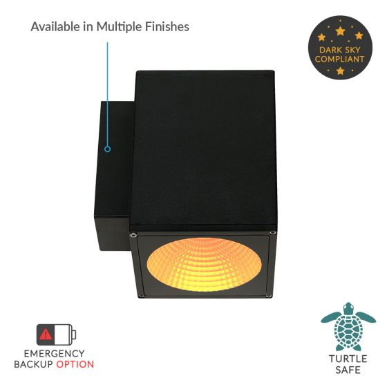 Image 1 of Alcon Lighting 11218-TF-S Pavo Turtle Friendly Dark Sky Architectural Amber LED 6 Inch Square 1-Direction Wall Mount Light Fixture