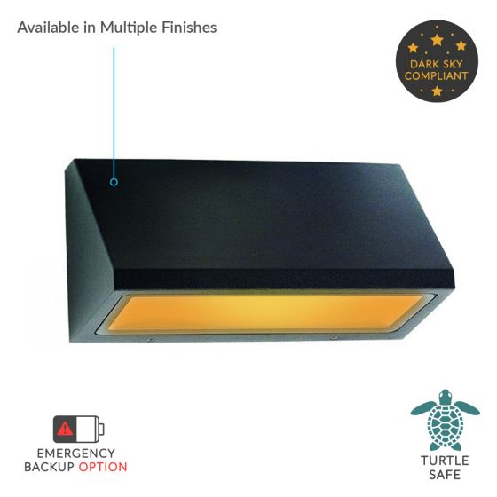 Image 1 of Alcon Lighting 11241-S Turtle Friendly Dark Sky Architectural Amber LED Wall Mount Light Fixture