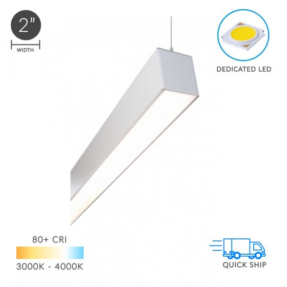 Image 1 of Alcon Lighting 12100-22-P Continuum 22 Series Architectural LED Linear Pendant Direct Light Fixture