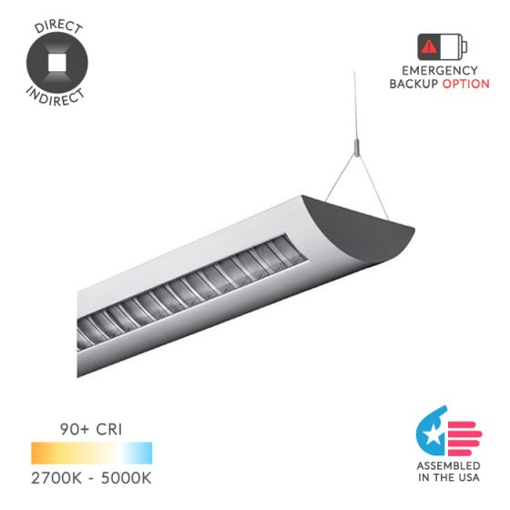 Image 1 of Alcon Lighting 12105 Delano Architectural LED Linear Pendant Lighting Direct/Indirect Fixture