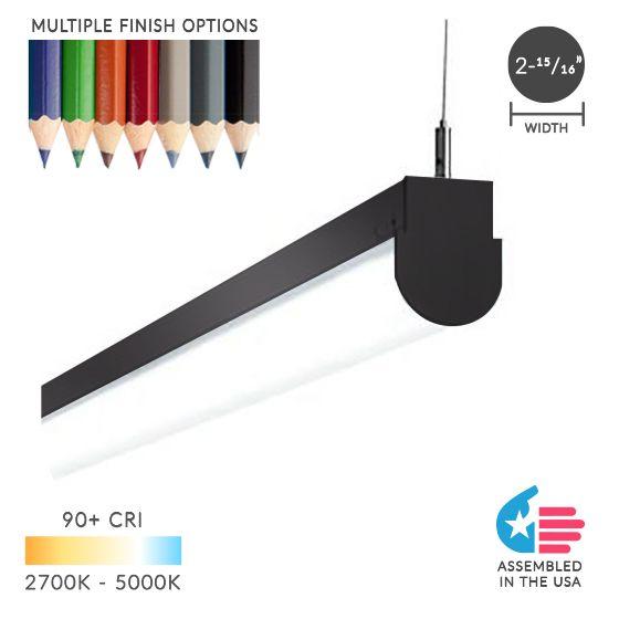 Alcon Lighting 12184 Chela Pendant Mount Architectural LED Linear Direct Down Light Strip
