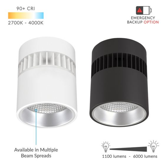 Image 1 of Alcon Lighting 12301-6 LED 6 Inch Surface or Suspended Mount Cylinder Light Fixture