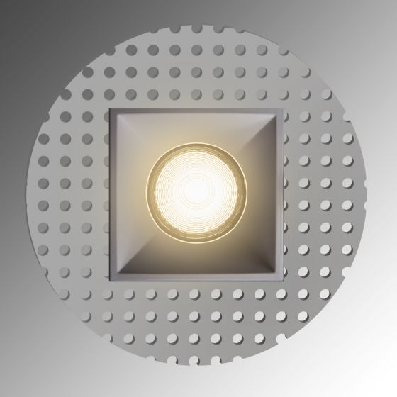 Image 1 of Alcon Lighting 14074-SF Illusione 4 Inch Square Architectural LED Trimless Flush Mount Recessed Light Fixture
