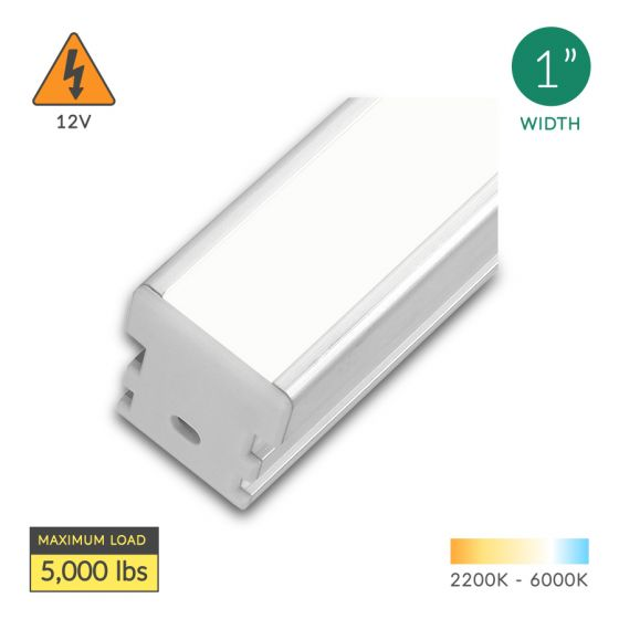 Alcon Lighting 14120 Continuum 1 Architectural LED 1 Inch Linear In-Ground Driveway Recessed Mount Light Fixture