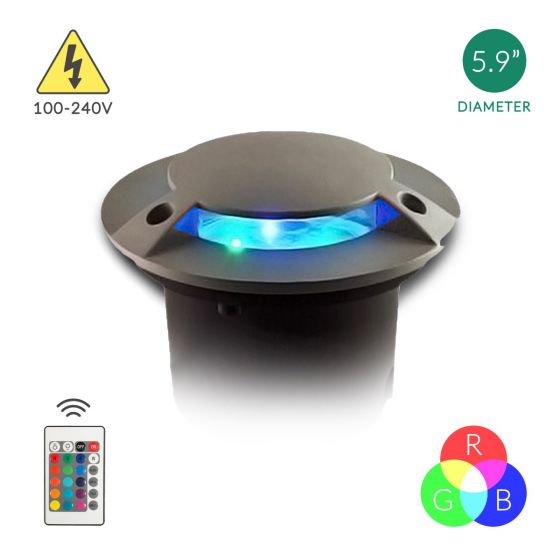 Image 1 of Alcon Lighting Mia 9032 Aluminum Outdoor LED 6W Remote Controlled RGB Color Changing Well Light  - 100V~240V