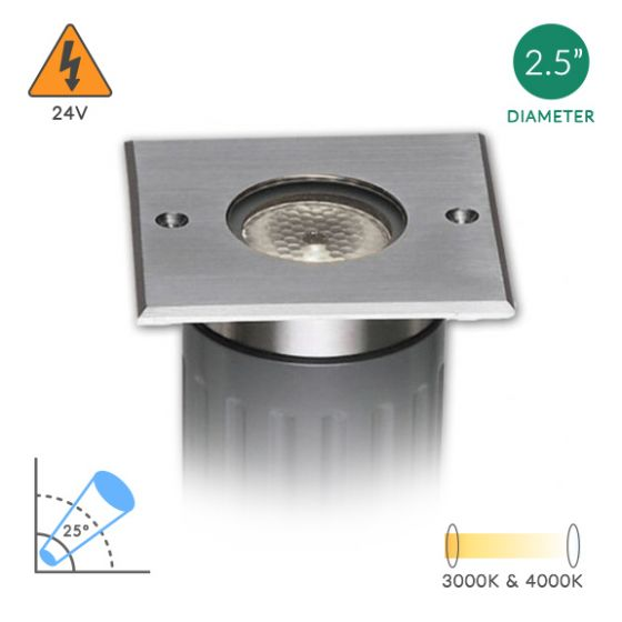 Image 1 of Alcon Lighting 9115-S Architectural Landscape LED Low Voltage Stainless Steel In Ground Well Light