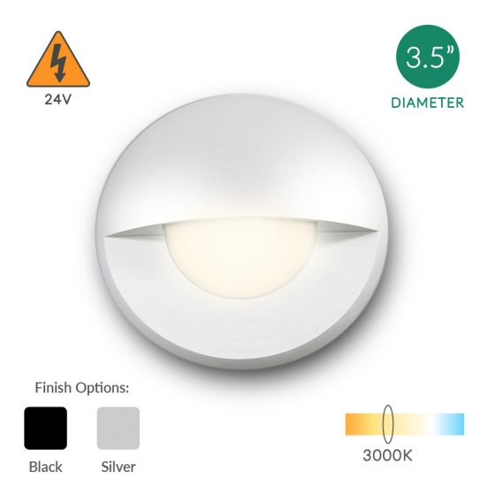 Alcon Lighting 9118 Round Eyelid Architectural Landscape LED Low Voltage In Ground Well Step Light