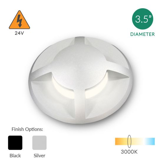 Alcon Lighting 9119 Round Eyelid Architectural Landscape LED Low Voltage In Ground Well Step Light