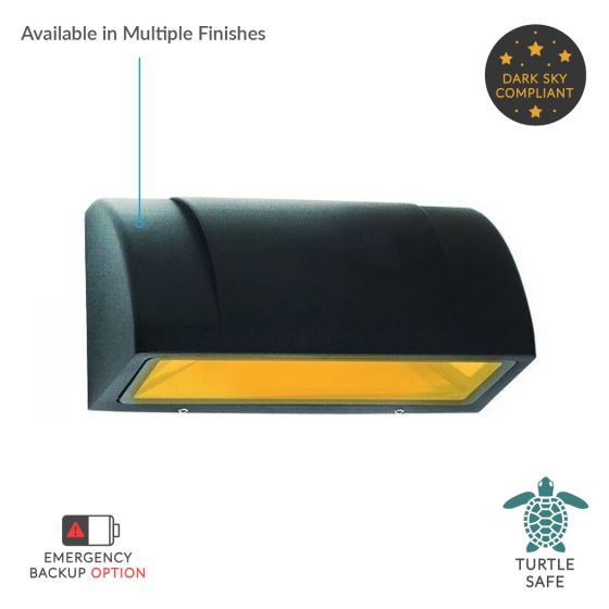 Image 1 of Alcon Lighting 11241-C Turtle Friendly Dark Sky Architectural Amber LED Wall Mount Light Fixture