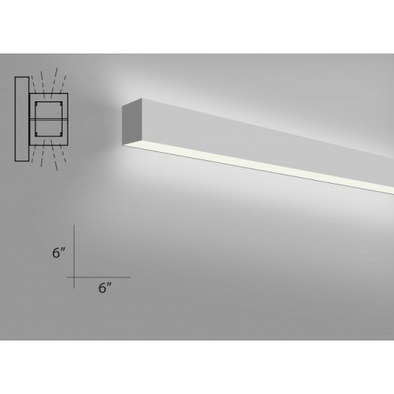Image 1 of Alcon Lighting 12100-66-W Continuum 66 Series Architectural LED Linear Wall Mount Direct/Indirect Light Fixture