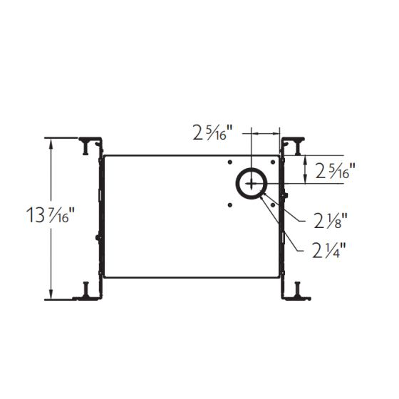 Image 1 of Lightolier C2LIC IC Frame New Construction IC Frame Chicago Plenum Certified for Calculite 1.75 Inch Fixtures