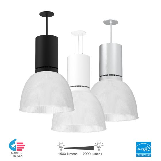 Image 1 of Alcon Lighting 15225 Circa LED Round High Bay Commercial Lighting Pendant