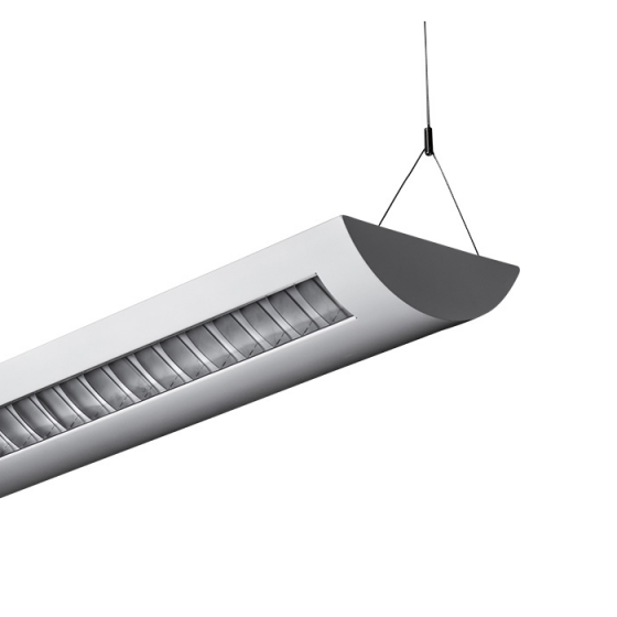 Alcon Lighting Delano 10104 T8 or T5HO Fluorescent Architectural Linear Suspended Light Fixture – Uplight (Indirect) and Downlight (Direct)