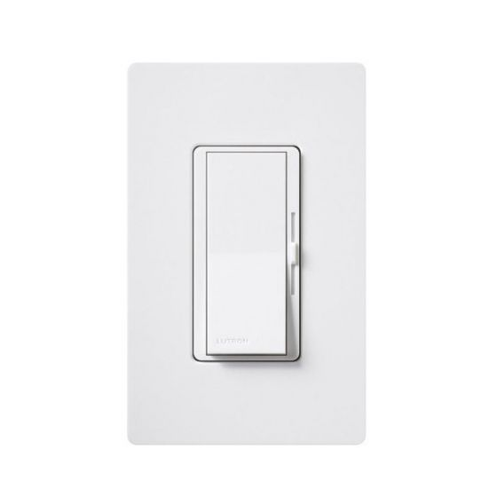 Image 1 of Lutron Diva DVTV-WH 0-10V Dimmer Switch Single-Pole 120V White (30mA Max)