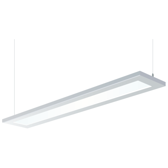 H.E. Williams FP2 Beveled Luminous Flat Panel Fluorescent Suspended Light Fixture - 4 FT