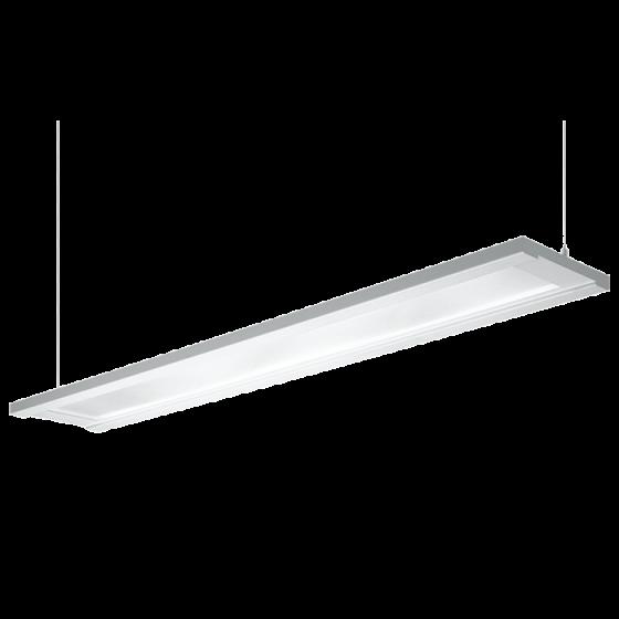 H.E. Williams FP4-8 Step-Up Luminous Flat Panel Fluorescent Suspended Light Fixture - 8 FT