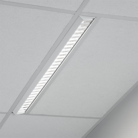 Image 1 of Lightolier H-Profile Recessed Asymmetric Optic T5 Fluorescent Fixture