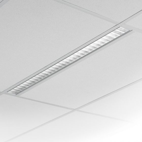 Image 1 of Lightolier H-Profile Recessed Louver T5 Fluorescent Fixture