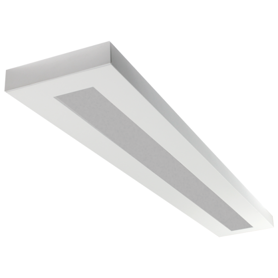 Image 1 of LSI Industries HRZ-4-FL LiniArc Horizon Housing Frosted Acrylic Lens Fluorescent Suspended Light Fixture - Direct/Indirect - 4 FT