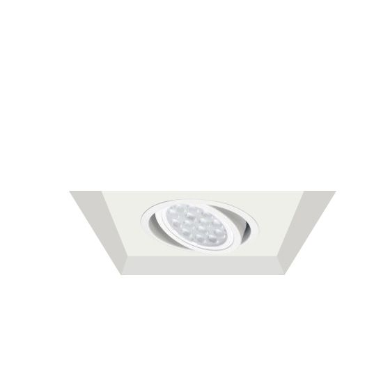 Alcon Lighting 14300-1 Oculare Architectural LED Flanged Adjustable 1 Head Multiple Recessed Lighting System Direct Down Fixture