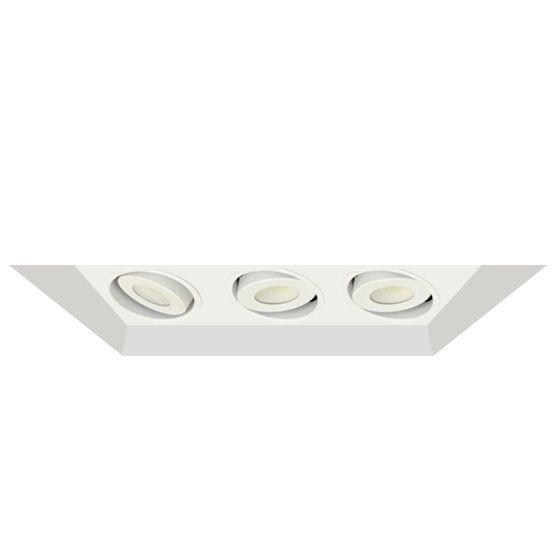 Image 1 of Alcon Lighting 14300-3 Oculare Architectural LED Flanged Adjustable 3 Heads Multiple Recessed Lighting System Direct Down Fixture