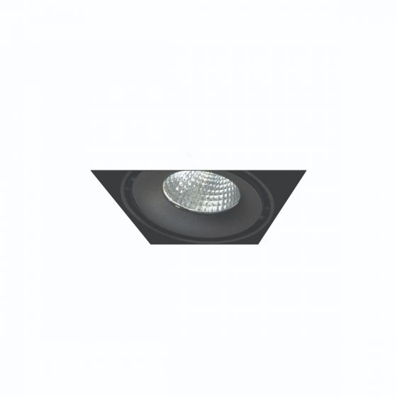 Image 1 of Alcon Lighting 14026-1 Oculare Architectural LED Trimless Adjustable 1 Head Multiple Recessed Lighting System Direct Down Fixture