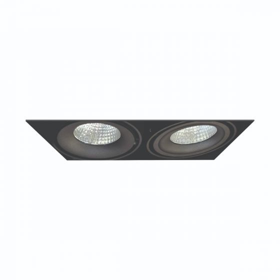 Image 1 of Alcon Lighting 14026-2 Oculare Architectural LED Trimless Adjustable 2 Heads Multiple Recessed Lighting System Direct Down Fixture