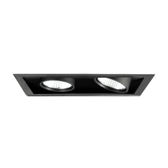 Image 1 of Alcon Lighting 14113-2 Oculare Pull-Down Architectural LED Trimless and Flanged Adjustable 2 Heads Multiple Recessed Lighting System Direct Down Fixture