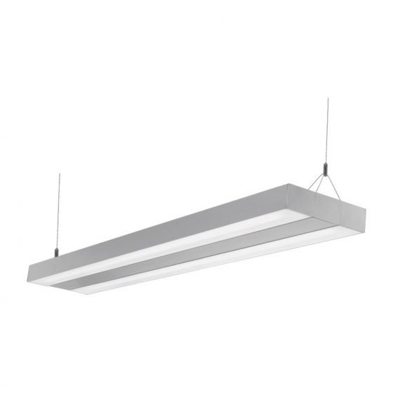 Image 1 of Alcon Lighting Rektor 12202 Architectural Linear Suspended LED Office Ceiling Light Fixture – Uplight and Downlight