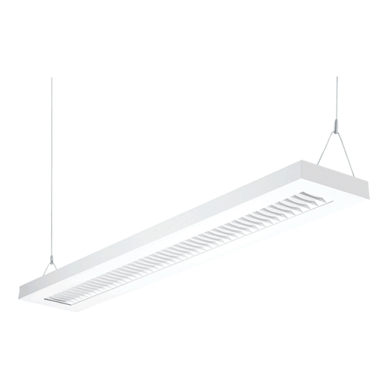 H.E. Williams SDI5 44-Cell Cross Blade Louver T5 Fluorescent Suspended Direct/Indirect Light Fixture - 4 FT