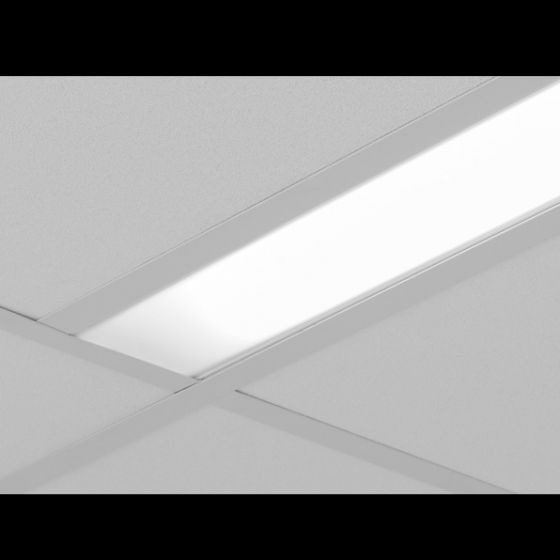 Image 1 of Focal Point Lighting FSM4 Seem 4 Drywall Hard Ceiling Architectural Recessed Fluorescent Fixture