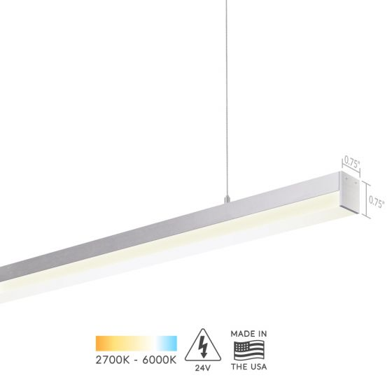 Alcon Lighting 12100-10-P Slim Continuum 10 Series Architectural LED Linear Pendant Direct Down Light Fixture