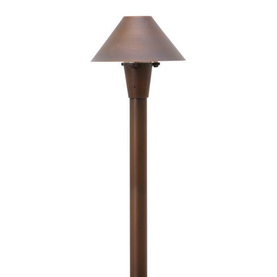 Image 1 of SPJ Lighting Forever Bright SPJ-MA-20 Outdoor LED Brass Outdoor Path Light - Matte Bronze Finish