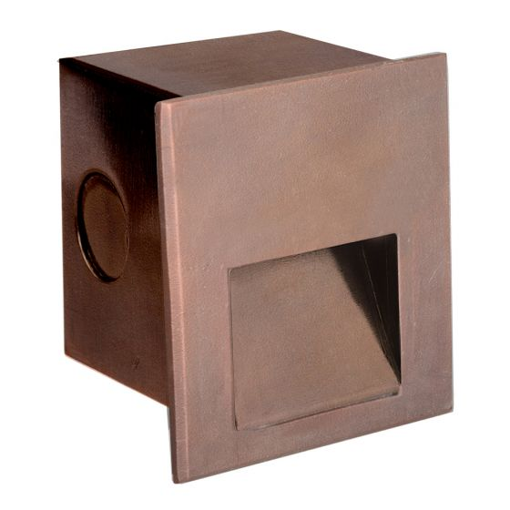 Image 1 of SPJ Lighting Forever Bright SPJ-MSL2 Outdoor 2 Watt LED Brass Recessed Step Light - Matte Bronze Finish