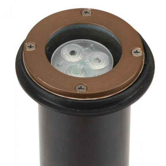 Image 1 of SPJ Lighting SPJ-MW1000-P-RB-QS  LED In-Ground Well Light Concrete Pour Ideal For Drive Way Applications - Matte Bronze Finish