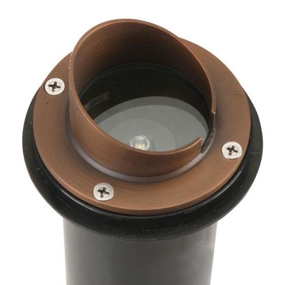 Image 1 of SPJ Lighting SPJ-MW1000-P-SH LED In-Ground Well Light Concrete Pour | Ideal For Drive Way Applications - Matte Bronze Finish