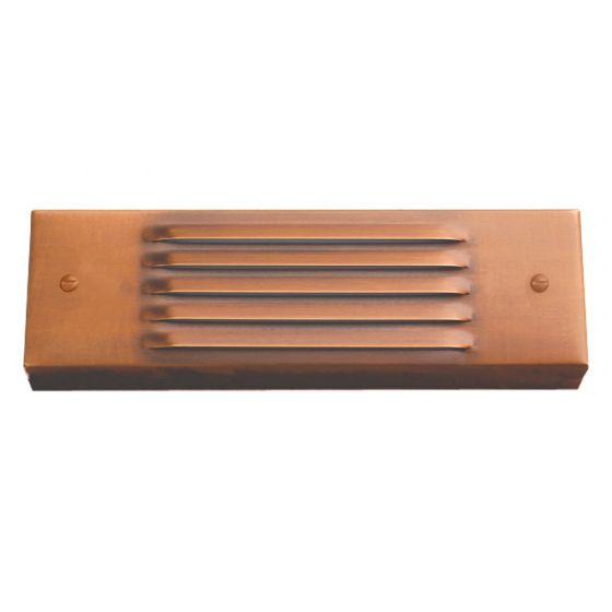 Image 1 of SPJ Lighting Forever Bright SPJ17-08 Outdoor 2 Watt LED Louvre Step Light Surface Mount - Matte Bronze Finish
