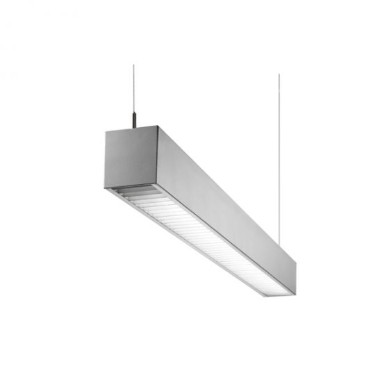 Image 1 of Alcon Lighting Spaira Commercial LED Linear Suspended Pendant Mount Direct Light with Parabolic Louver