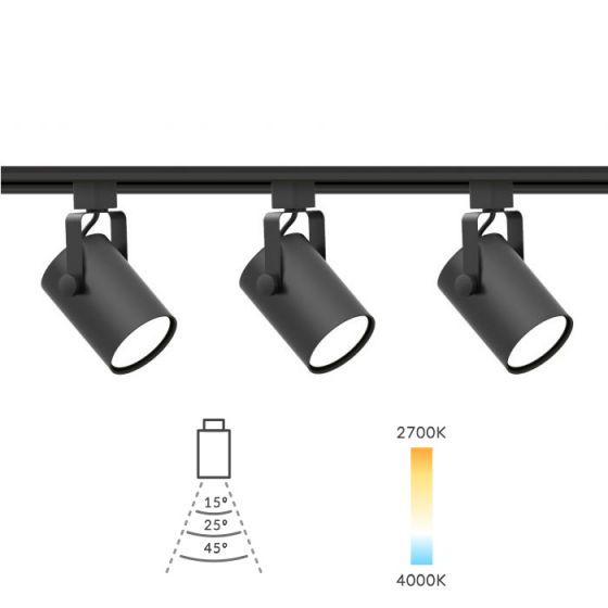 Image 1 of Alcon Lighting Sinch 13124-3 Architectural LED Cylinder Track Light Fixture kit - 3 Light