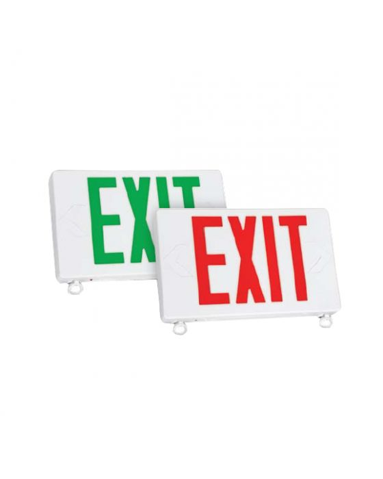 TCP 2068 Exit/Emergency Sign Combo with LED Heads for Damp Location