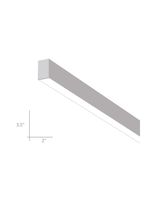 Alcon Lighting 12100-S-23-4 Continuum 23 Series Architectural LED 4 Foot  sc 1 st  Alcon Lighting & The Largest Selection of Commercial LED Linear Surface-Mount Ceiling ...