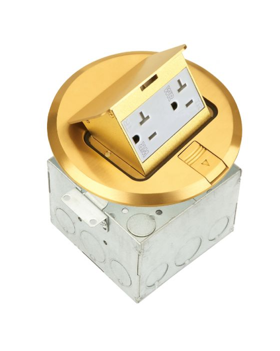 Professional Grade Electrical Floor Boxes Floor Outlet Covers
