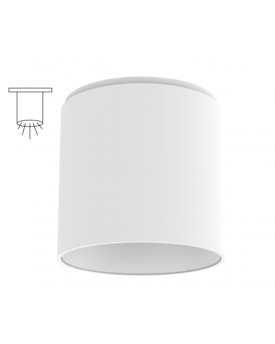 Alcon Lighting 11147 S Cilindro I Architectural Led Small Modern Cylinder Surface Mount Direct Light
