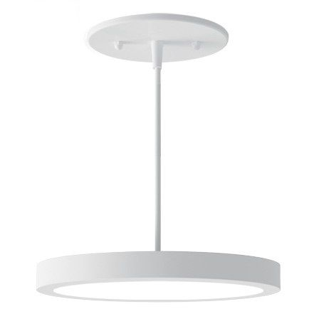 Alcon Lighting 12182-7 Disk Architectural LED 7 Inch Round Pendant Mount Direct Down Light Fixture