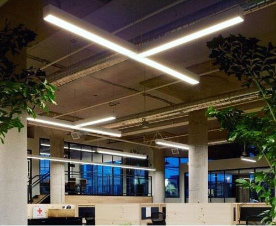 Image 1 of Alcon Lighting 12100-40-P-T Continuum 40 Architectural LED Tee-Shaped Pendant Mount Direct/Indirect Light Fixture
