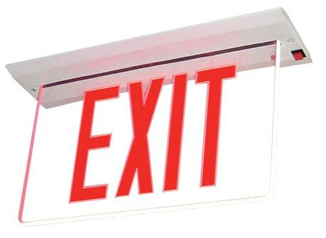 City of New York Approved Recessed Edge Lit LED Exit Sign